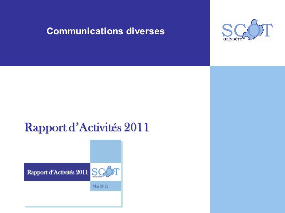 Communications diverses Rapport dActivités 2011