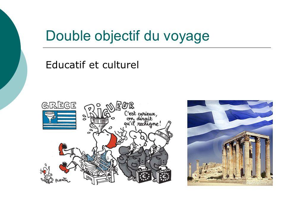 Double objectif du voyage Educatif et culturel