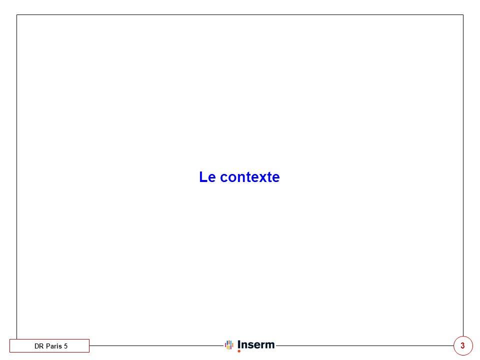 34 Les profils DR Paris 5 Les utilisateurs sont répartis par profils, qui gèrent les droits et la confidentialité dans lapplication.