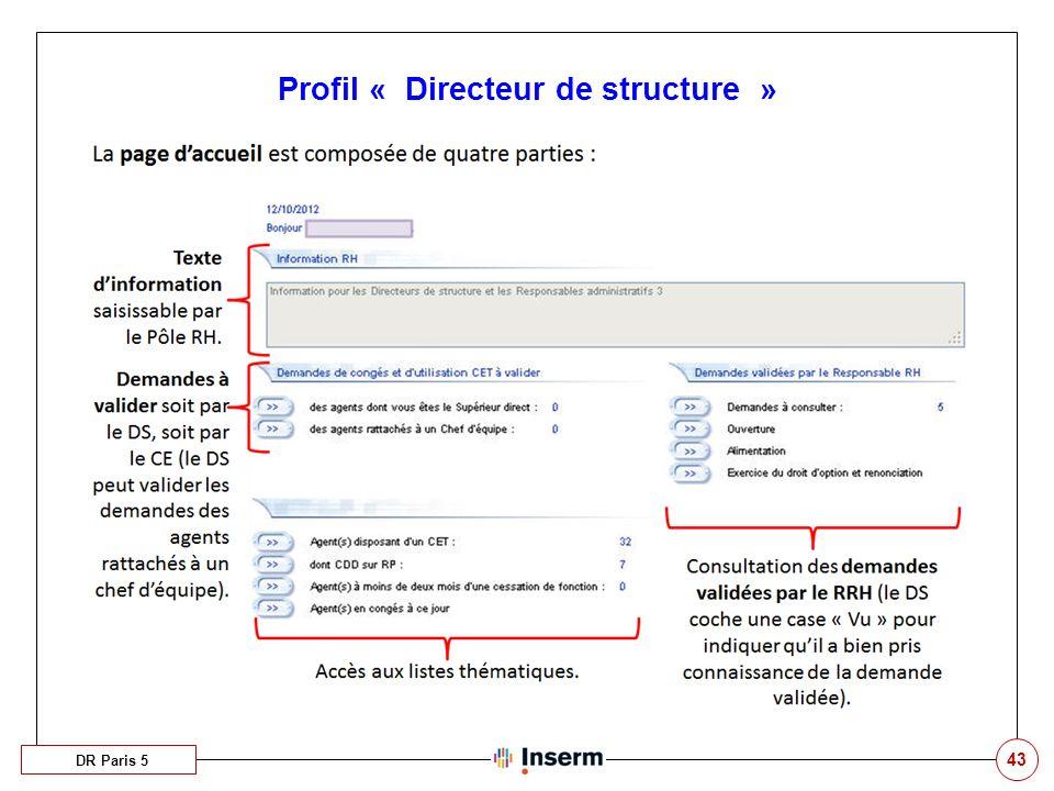 43 Profil « Directeur de structure » DR Paris 5