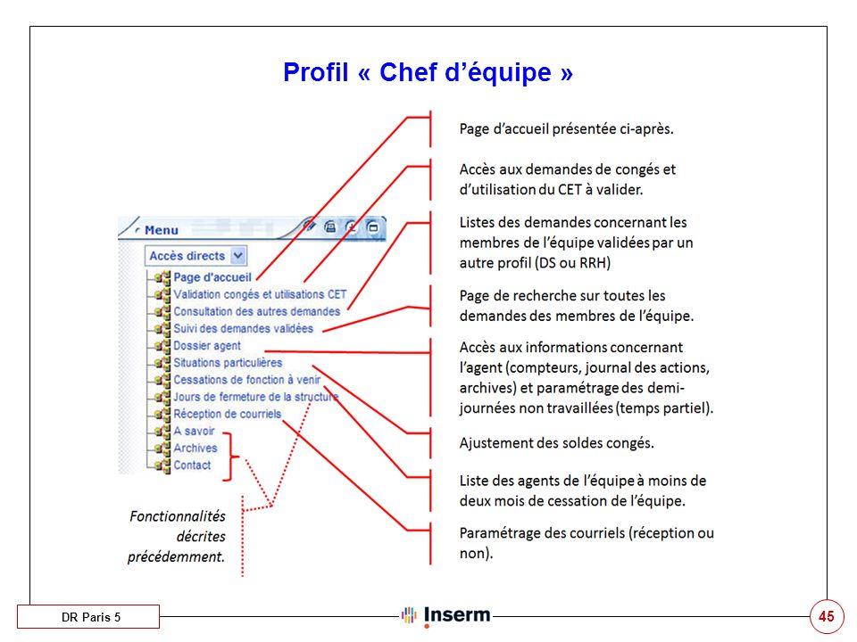 45 Profil « Chef déquipe » DR Paris 5