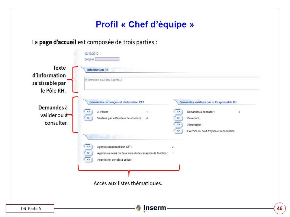 46 Profil « Chef déquipe » DR Paris 5