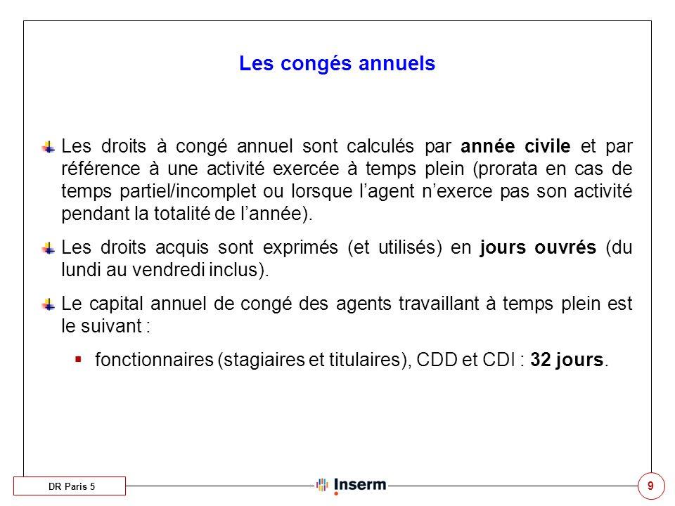 10 Les jours ARTT DR Paris 5 Tous les agents de droit public (fonctionnaires, vacataires, CDD, CDI) peuvent potentiellement bénéficier de jours ARTT.