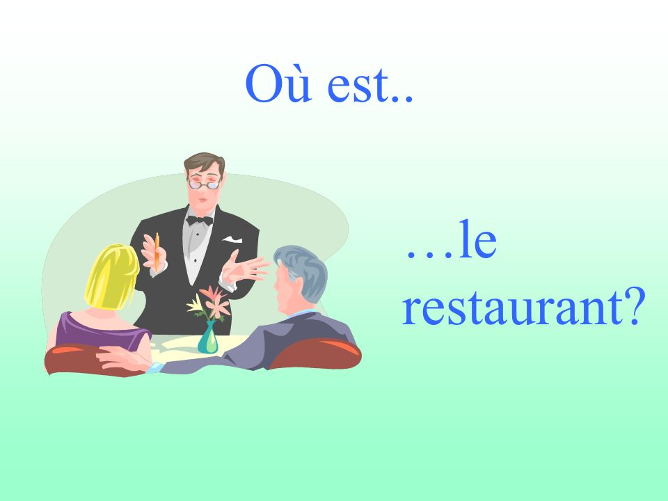 Où est.. …le restaurant?