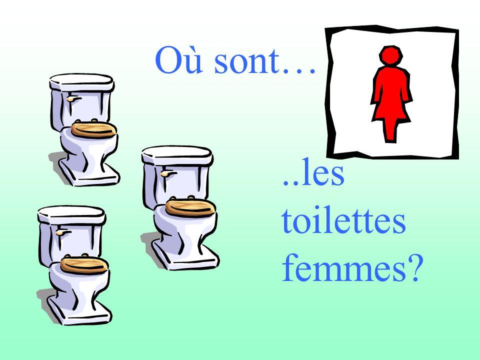 Où sont…..les toilettes femmes?