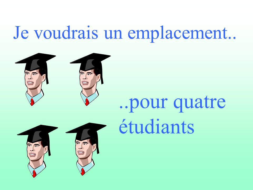 ..pour quatre étudiants