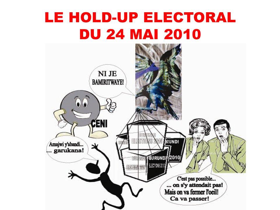 LE HOLD-UP ELECTORAL DU 24 MAI 2010