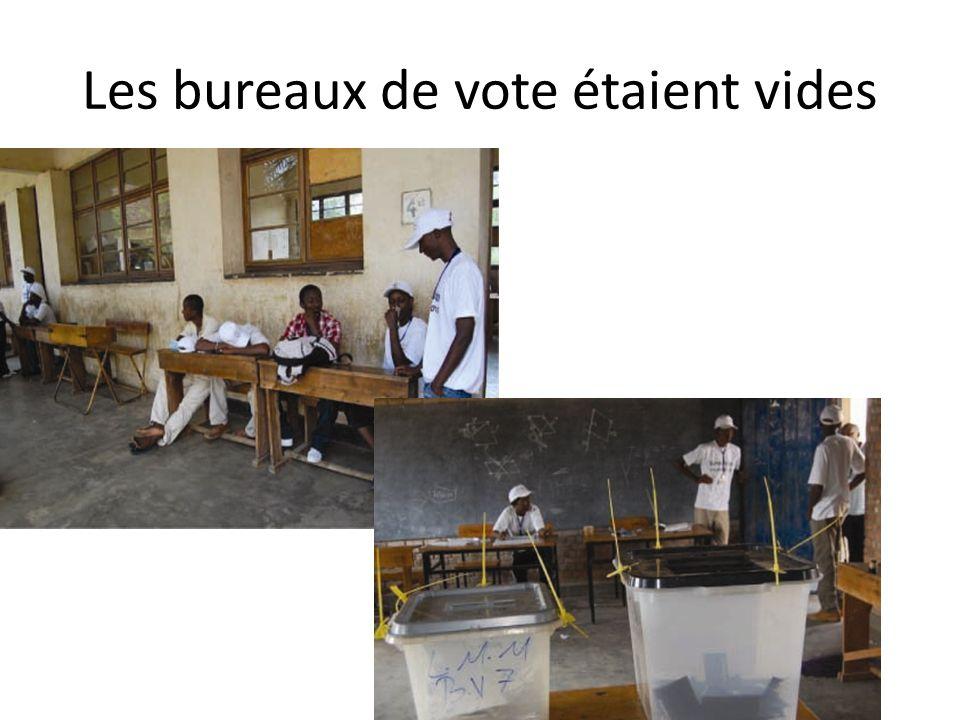 Les bureaux de vote étaient vides