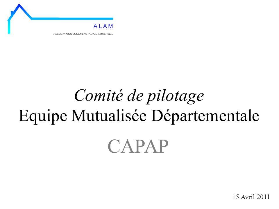 Comité de pilotage Equipe Mutualisée Départementale 15 Avril 2011 ASSOCIATION LOGEMENT ALPES MARITIMES A L A M CAPAP