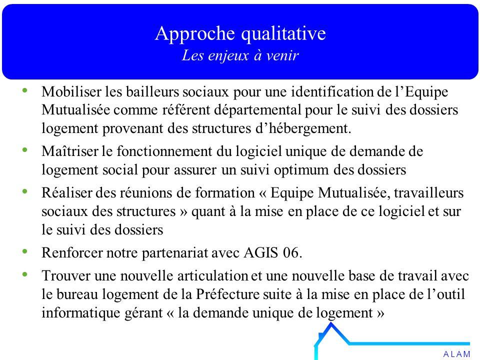 Mobiliser les bailleurs sociaux pour une identification de lEquipe Mutualisée comme référent départemental pour le suivi des dossiers logement provenant des structures dhébergement.