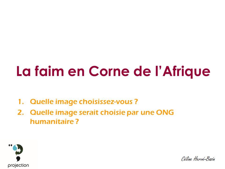 La faim en Corne de lAfrique 1.Quelle image choisissez-vous .