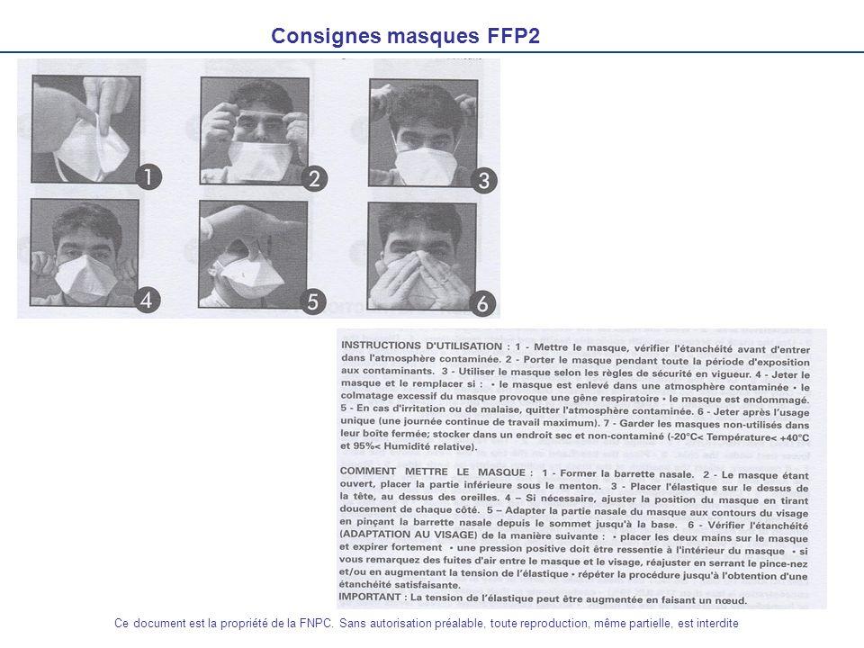 Consignes masques FFP2 Ce document est la propriété de la FNPC. Sans autorisation préalable, toute reproduction, même partielle, est interdite