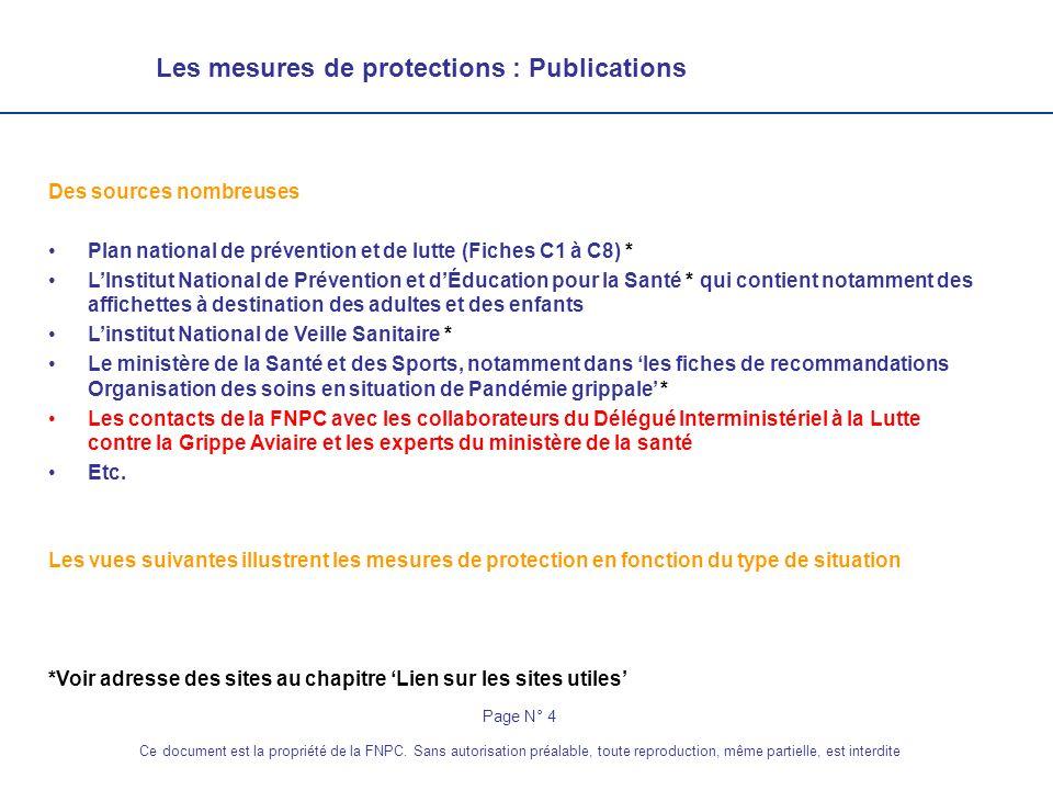 Chapitre Le rôle de la FNPC Les protections Lhygiène La gestion des déchets Fiches intervention PSSP Lien sur les sites utiles Les contacts FNPC Page N° 25 Ce document est la propriété de la FNPC.
