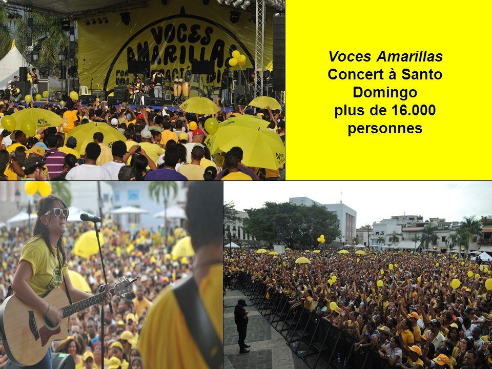 Voces Amarillas Concert à Santo Domingo plus de 16.000 personnes