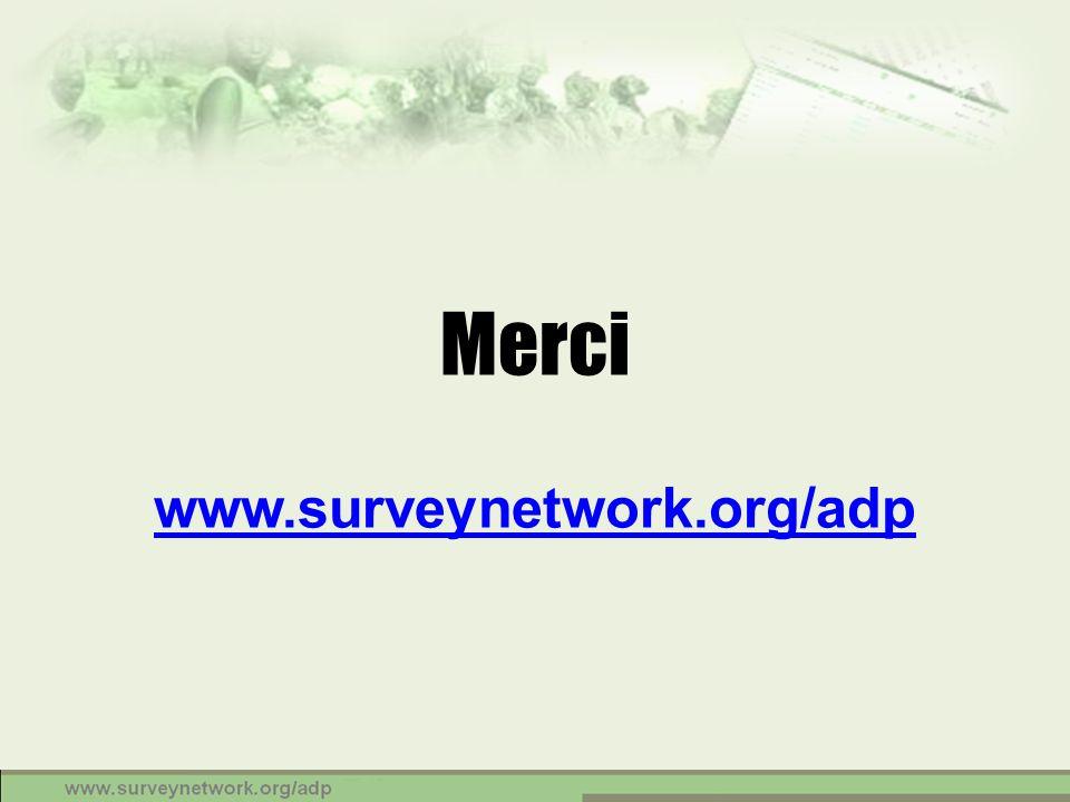 Merci www.surveynetwork.org/adp www.surveynetwork.org/adp