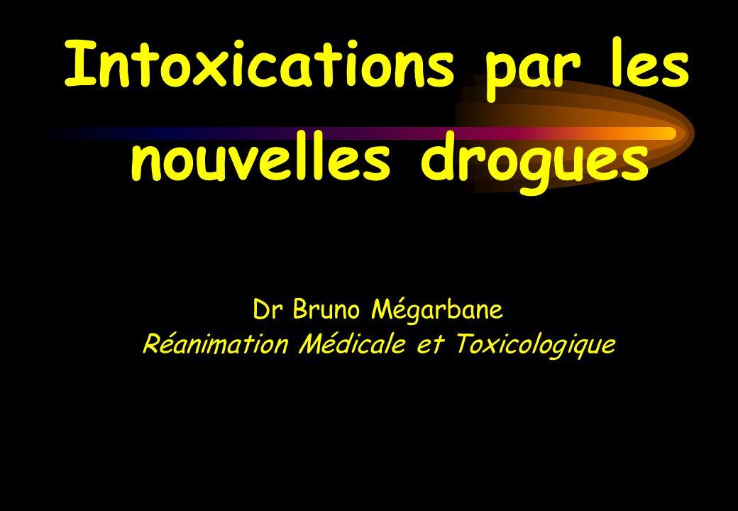 Circonstances dintoxications Développement dun trafic Mésusage Associations aux benzodiazépines Accidents thérapeutiques Drummer, Am J Forenscic Med Pathol, 1992 Tracqui, Presse Med, 1998