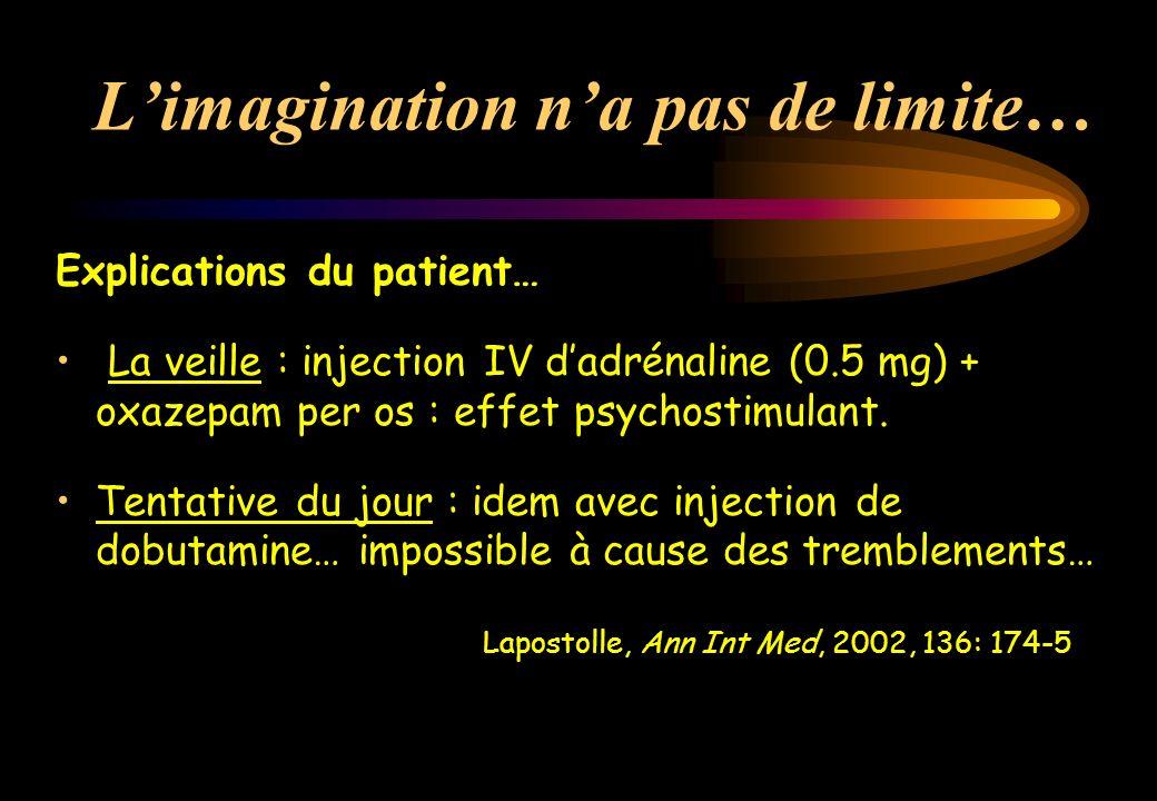 Spécificités des opiacés de substitution Modalités dabsorption : ingestion Cinétique de lintoxication PicDemi-vie Méthadone3 h25 h Buprénorphine 2 h 6 h Dictionnaire Vidal, 2000