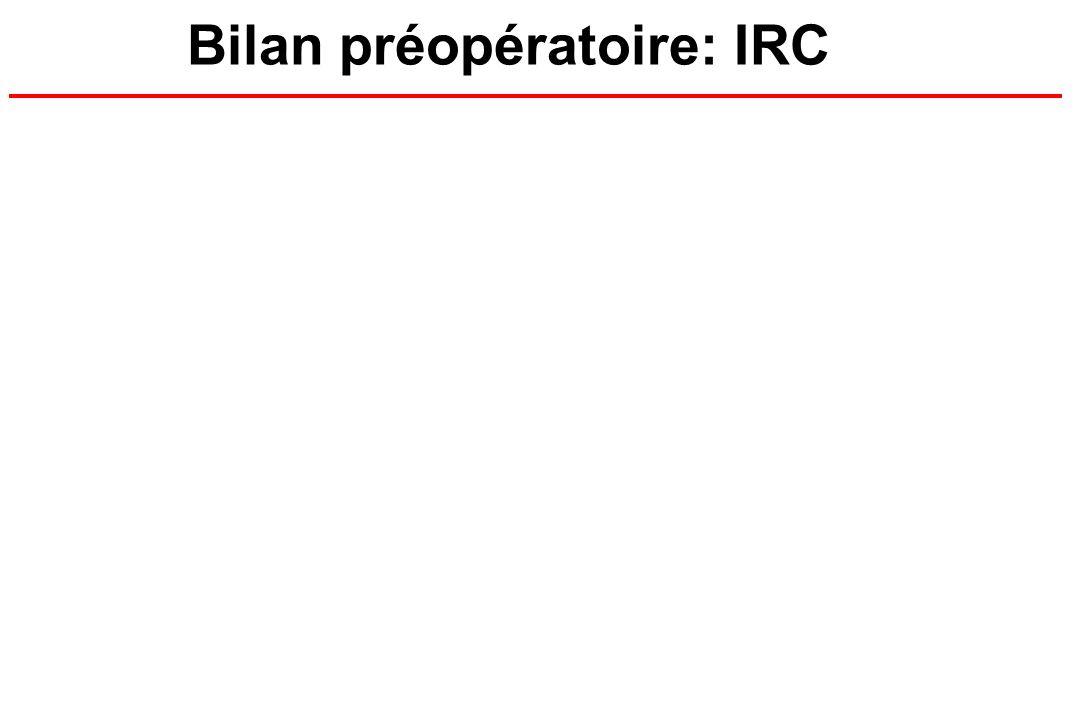 Bilan préopératoire: IRC