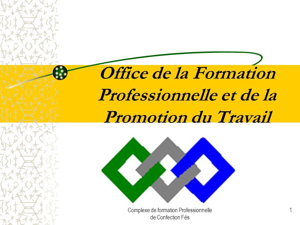 Complexe de formation Professionnelle de Confection Fès 1 Office de la Formation Professionnelle et de la Promotion du Travail