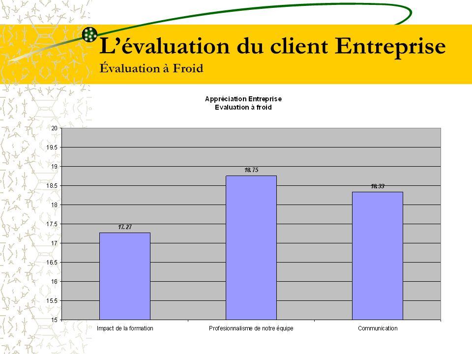 Lévaluation du client Entreprise Évaluation à Froid