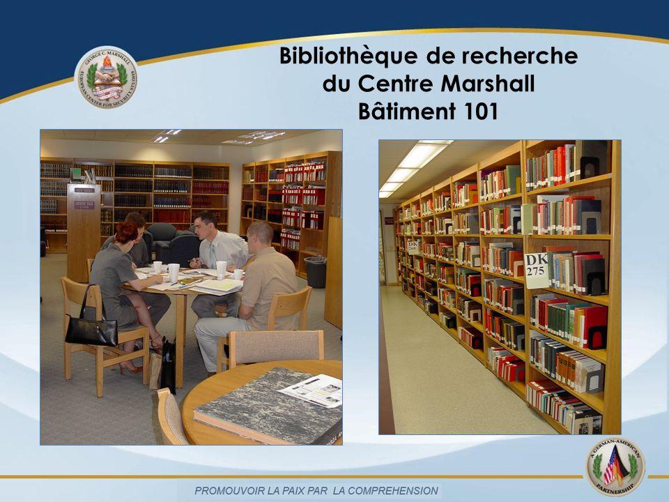 Bibliothèque de recherche du Centre Marshall Bâtiment 101