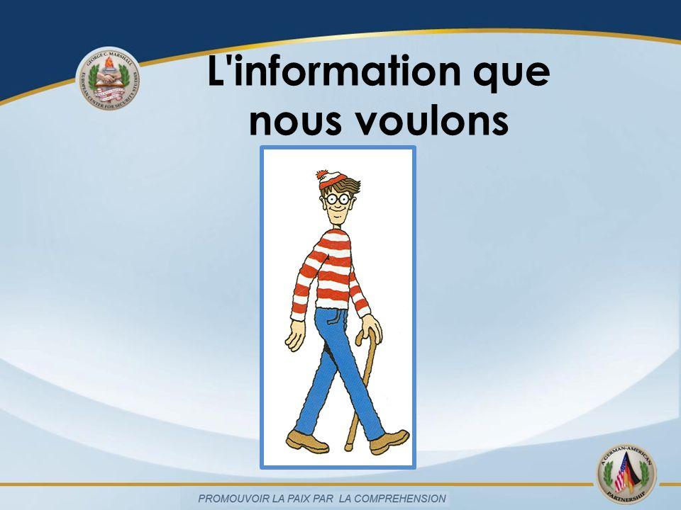 L information disponible