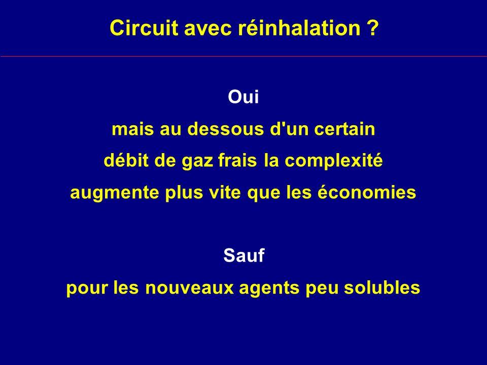 Circuit avec réinhalation .