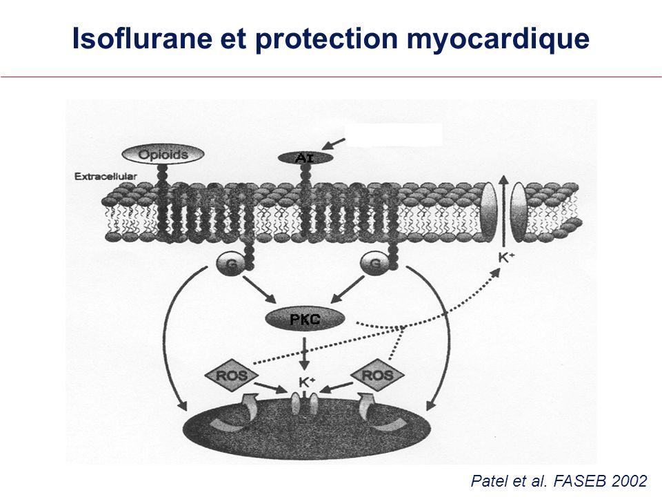 Isoflurane et protection myocardique Isoflurane Patel et al. FASEB 2002