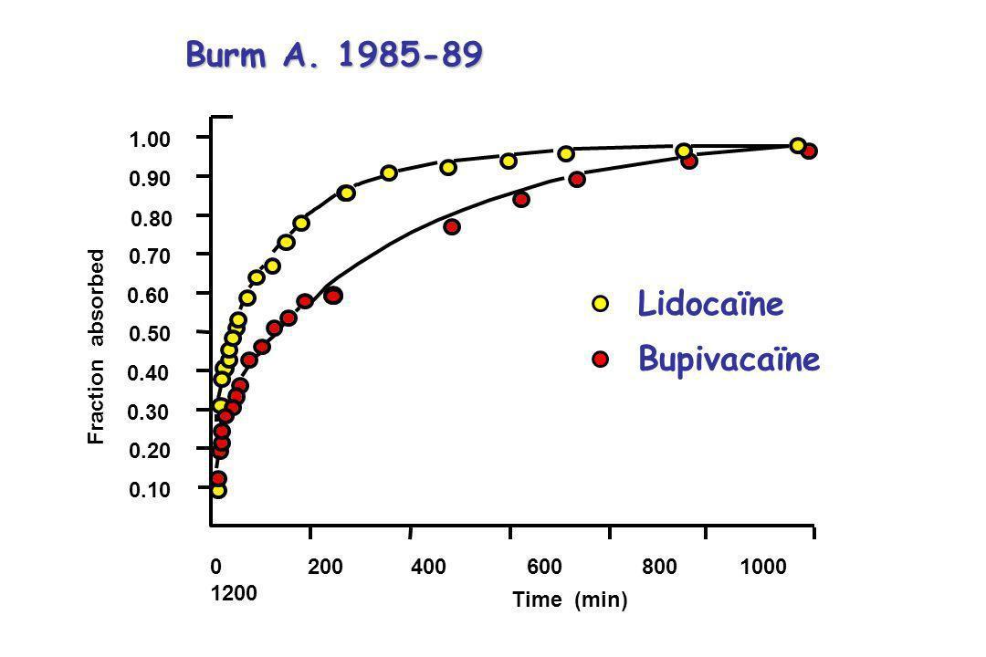 Burm A. 1985-89 Lidocaïne Bupivacaïne
