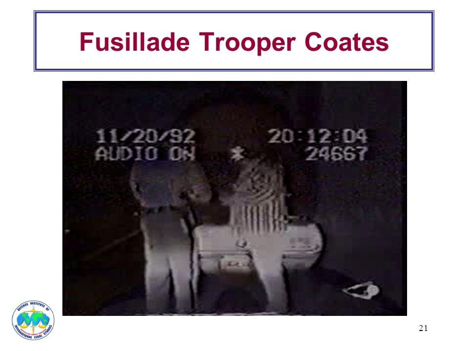 21 Fusillade Trooper Coates
