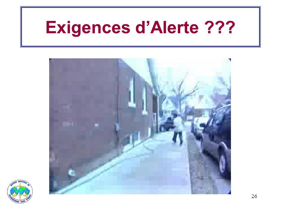 26 Exigences dAlerte ???