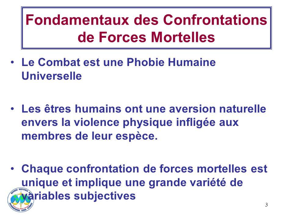 3 Fondamentaux des Confrontations de Forces Mortelles Le Combat est une Phobie Humaine Universelle Les êtres humains ont une aversion naturelle envers