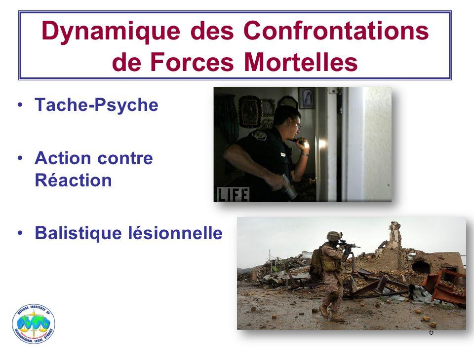 6 Dynamique des Confrontations de Forces Mortelles Tache-Psyche Action contre Réaction Balistique lésionnelle