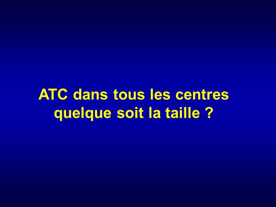 ATC dans tous les centres quelque soit la taille ?