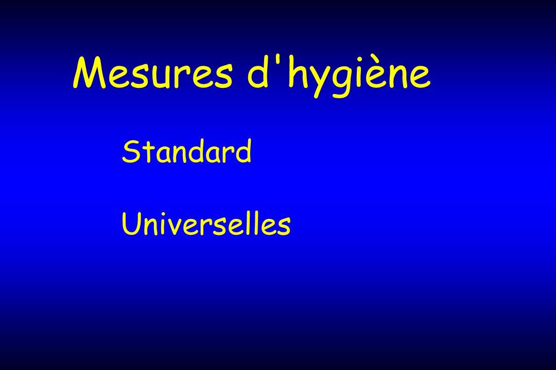 Mesures d'hygiène Standard Universelles