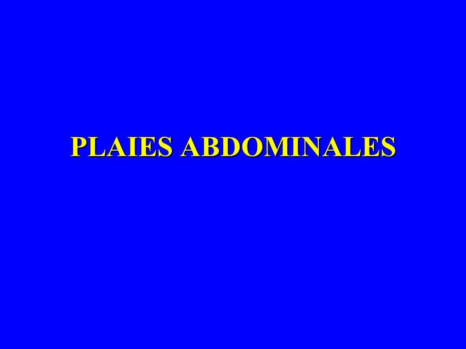 PLAIES ABDOMINALES