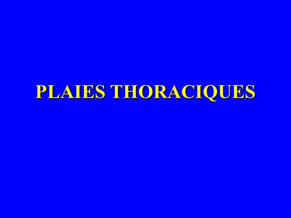 PLAIES THORACIQUES
