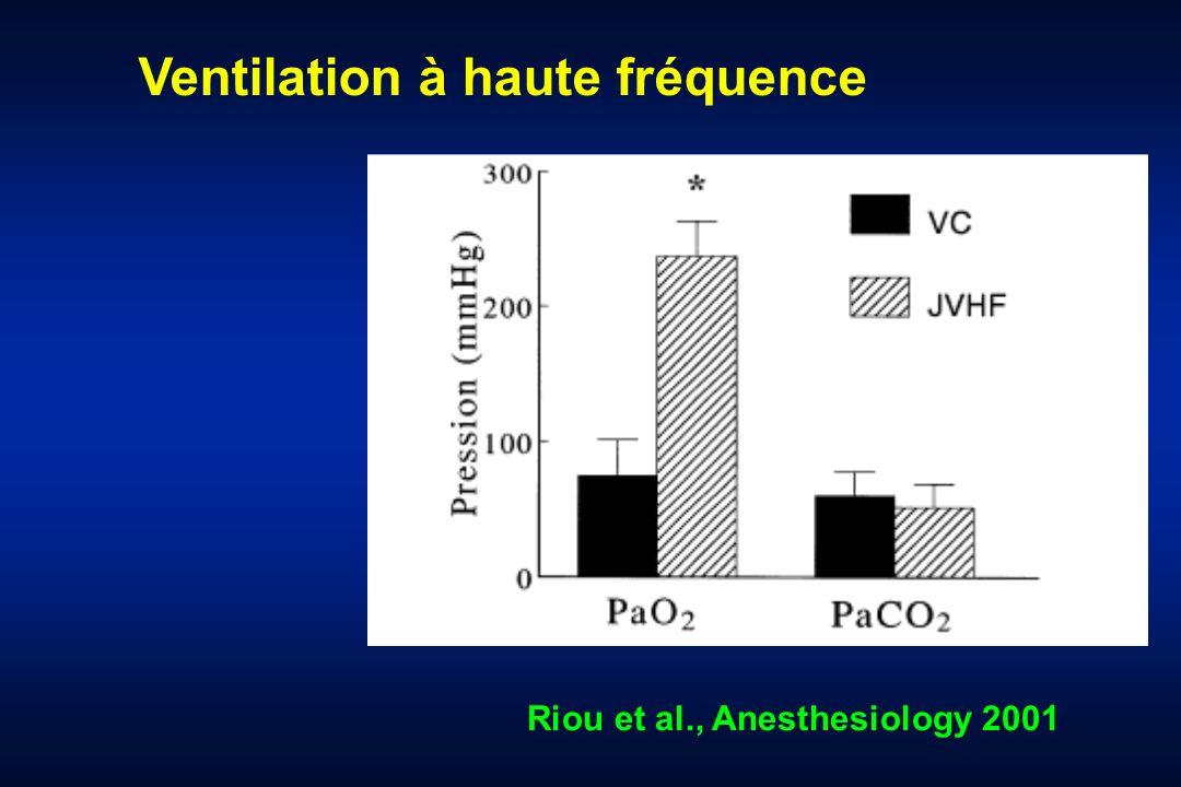 Riou et al., Anesthesiology 2001 Ventilation à haute fréquence