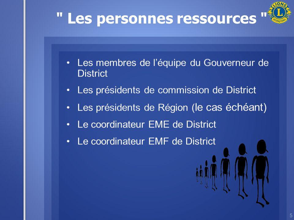 5 Les personnes ressources
