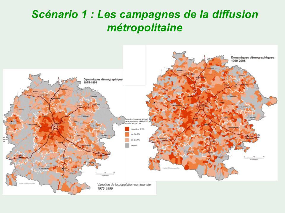 Scénario 1 : Les campagnes de la diffusion métropolitaine