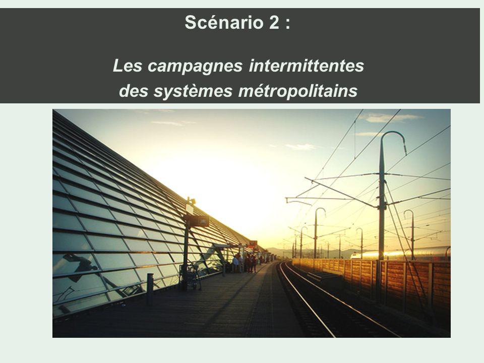 Scénario 2 : Les campagnes intermittentes des systèmes métropolitains