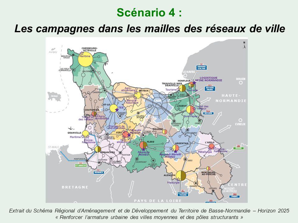 Scénario 4 : Les campagnes dans les mailles des réseaux de ville Extrait du Schéma Régional dAménagement et de Développement du Territoire de Basse-No