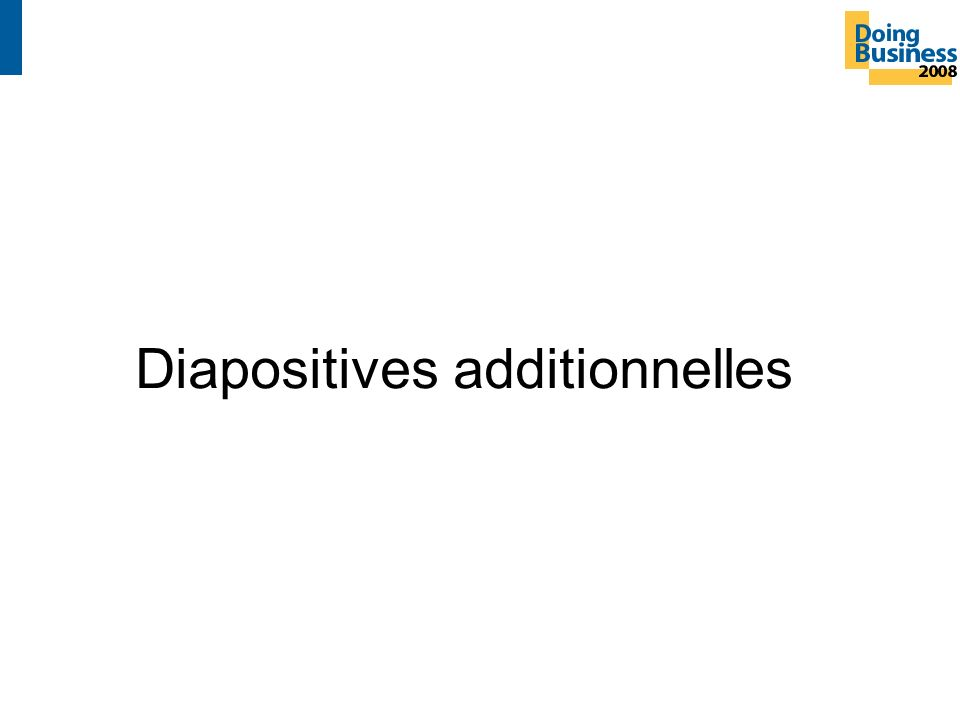 Diapositives additionnelles