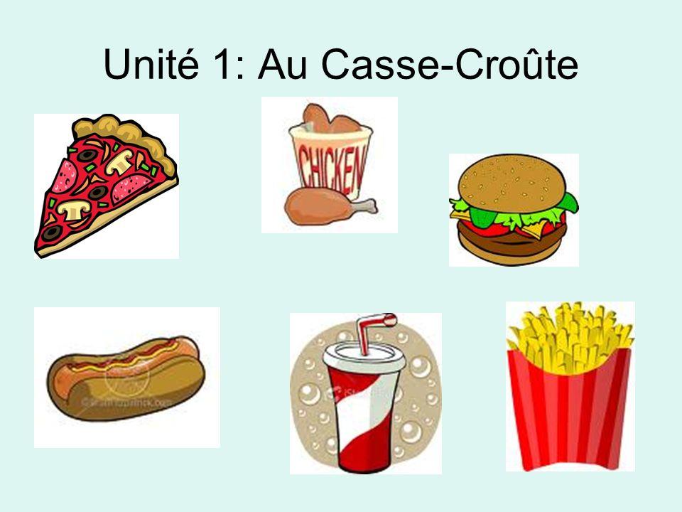 Unité 1: Au Casse-Croûte