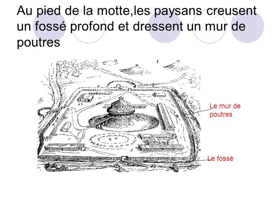 Le donjon est le seul refuge sur du château Accès par échelle qui est retirée en cas dattaque.