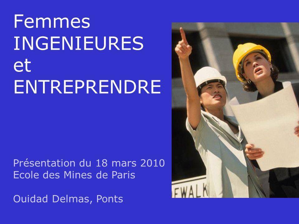 18/03/2010WD Femmes INGENIEURES et ENTREPRENDRE Présentation du 18 mars 2010 Ecole des Mines de Paris Ouidad Delmas, Ponts