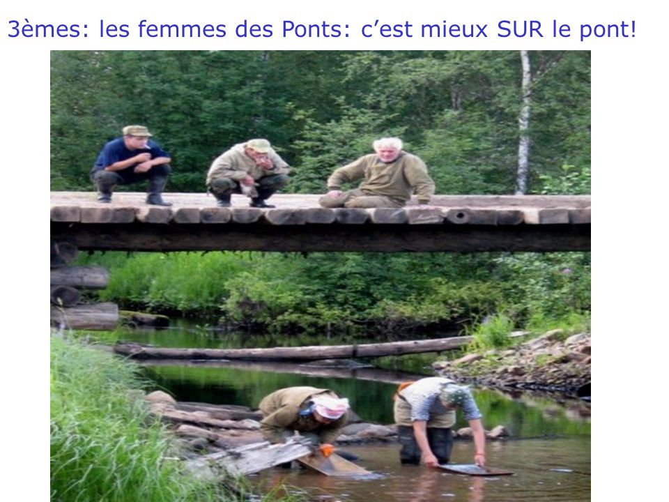18/03/2010WD 3èmes: les femmes des Ponts: cest mieux SUR le pont!