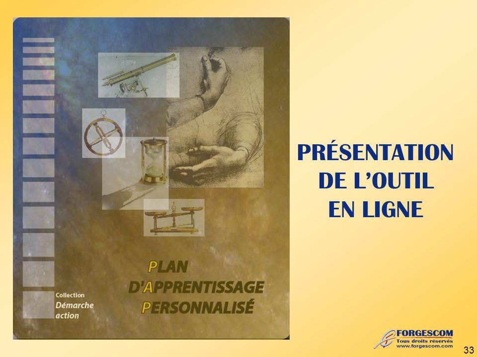 PRÉSENTATION DE LOUTIL EN LIGNE 33