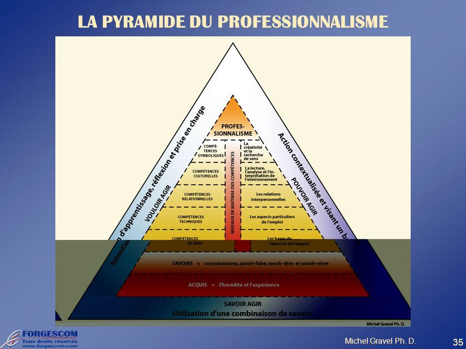 LA PYRAMIDE DU PROFESSIONNALISME Michel Gravel Ph. D. 35