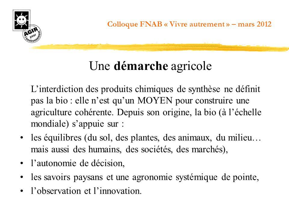 Linterdiction des produits chimiques de synthèse ne définit pas la bio : elle nest quun MOYEN pour construire une agriculture cohérente. Depuis son or
